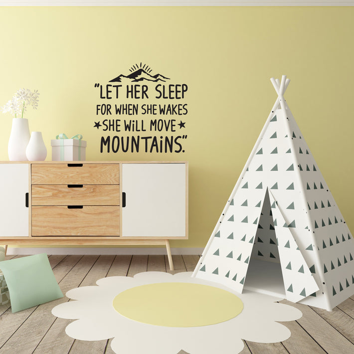 Baby Quote 6 vinyl wall poetry