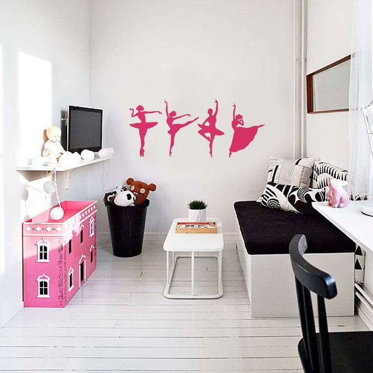 Ballerinas vinyl wall stickers