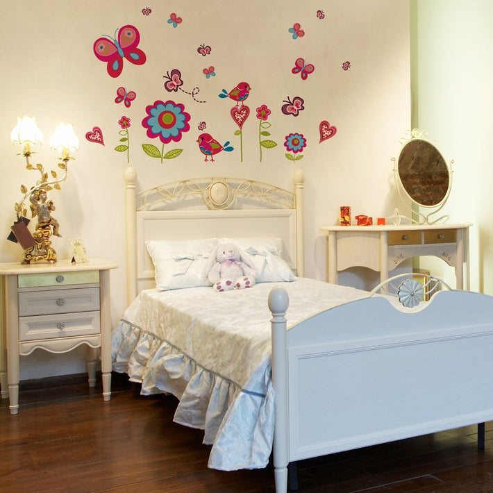 Butterfly garden vinyl wall stickers