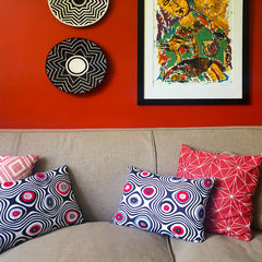 Cushion with African circles