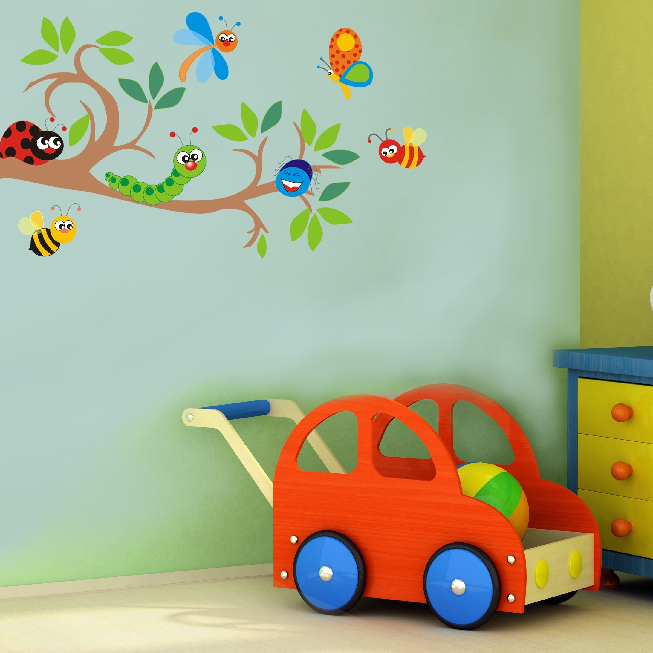Cute Bugs vinyl wall stickers