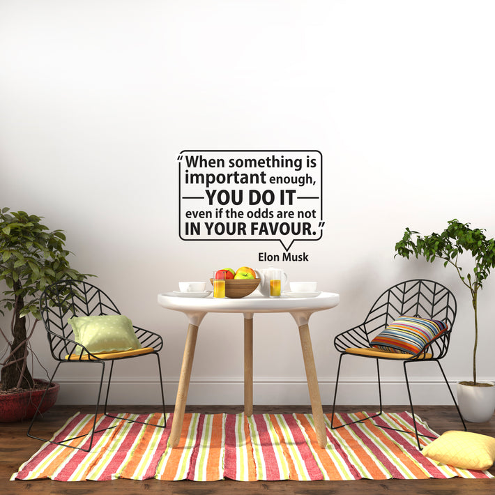 Elon Musk Quote - vinyl wall stickers