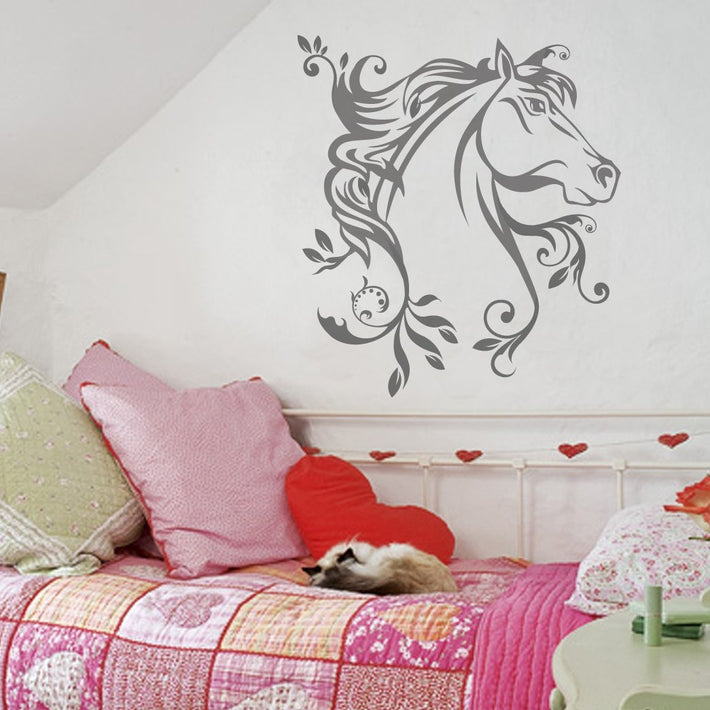 Floral Horse vinyl wall sticker