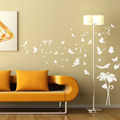 Fly Away Butterflies vinyl wall art