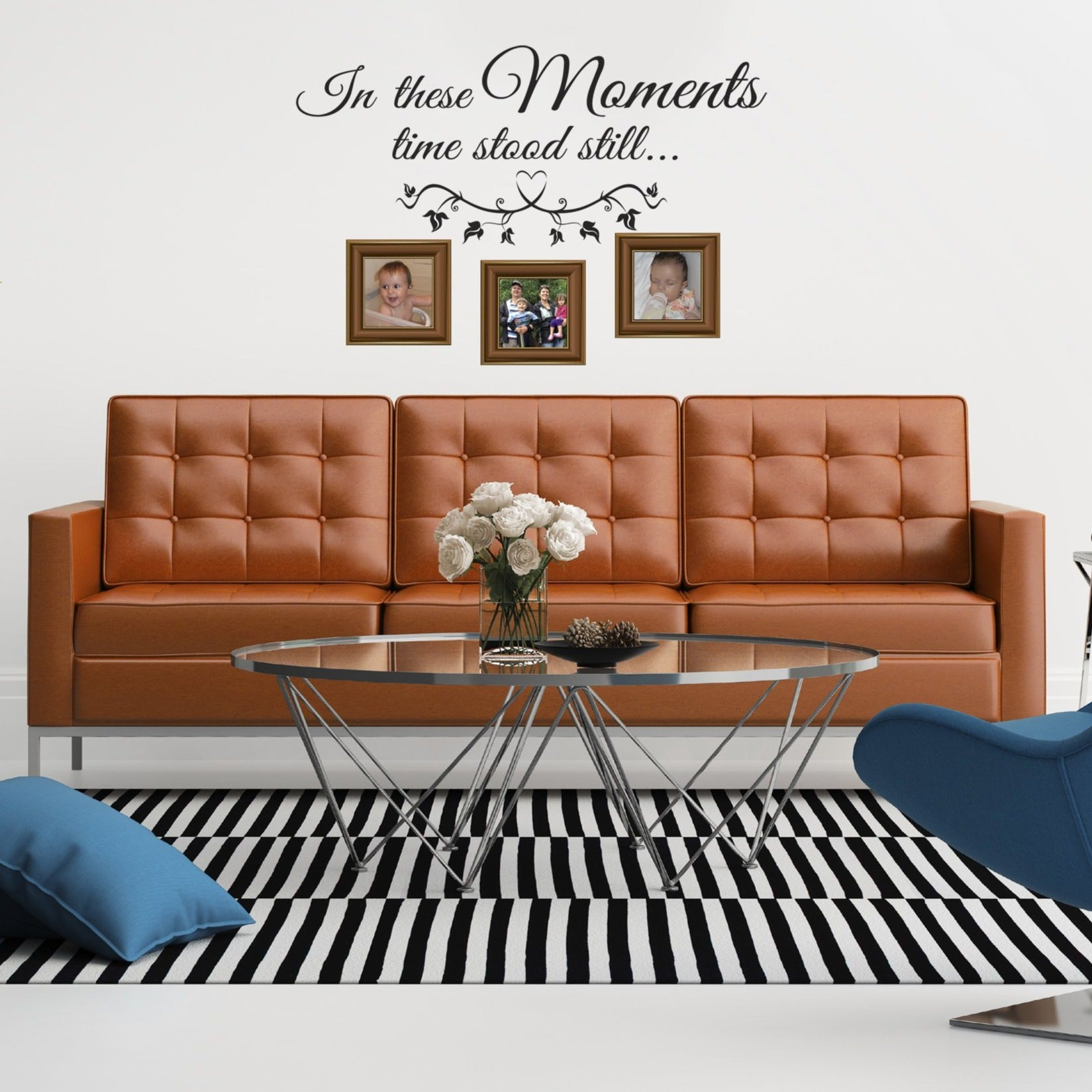 In these moments vinyl wall poetry