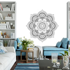 Mandala Flower vinyl wall art