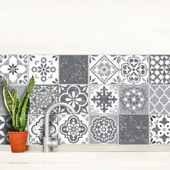 Mediterranean Grey - vinyl wall tiles