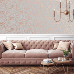 Milan Grey/Rose Gold Wallpaper