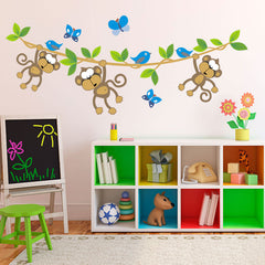 Monkeys on a vine - vinyl wall stickers
