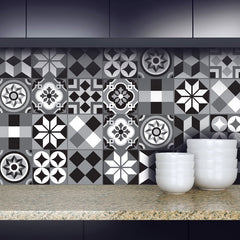 Moroccan - Black vinyl wall tiles