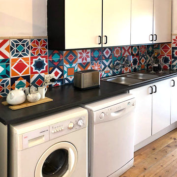 Moroccan - Blue vinyl wall tiles