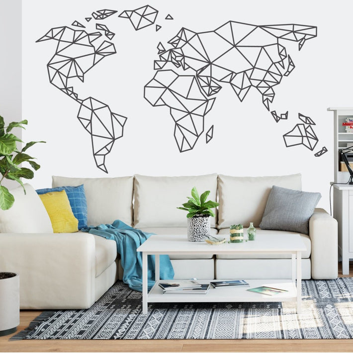 Giant Origami World Map - vinyl wall sticker