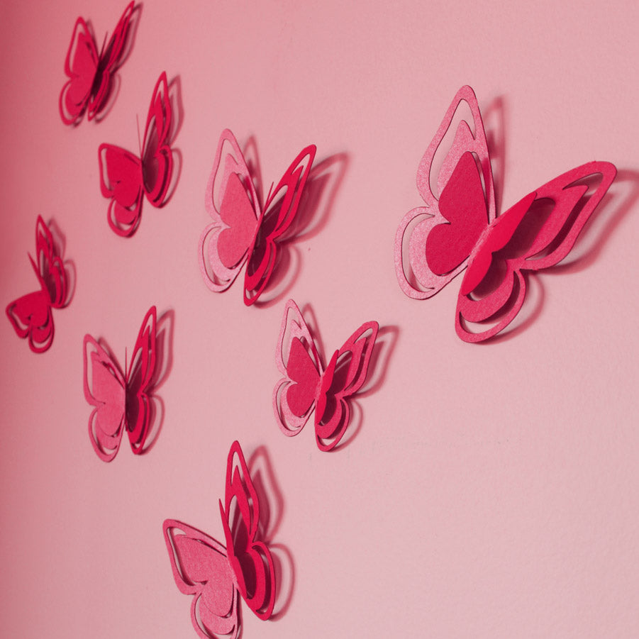 3D Papilion Butterflies Wall art