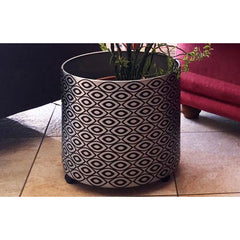African Silver and Black Plant Holder
