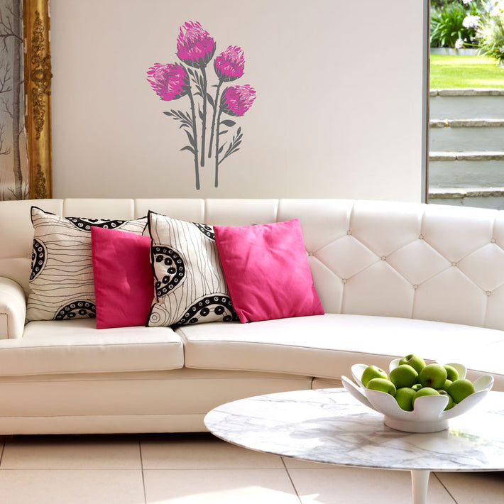 Protea vinyl wall stickers