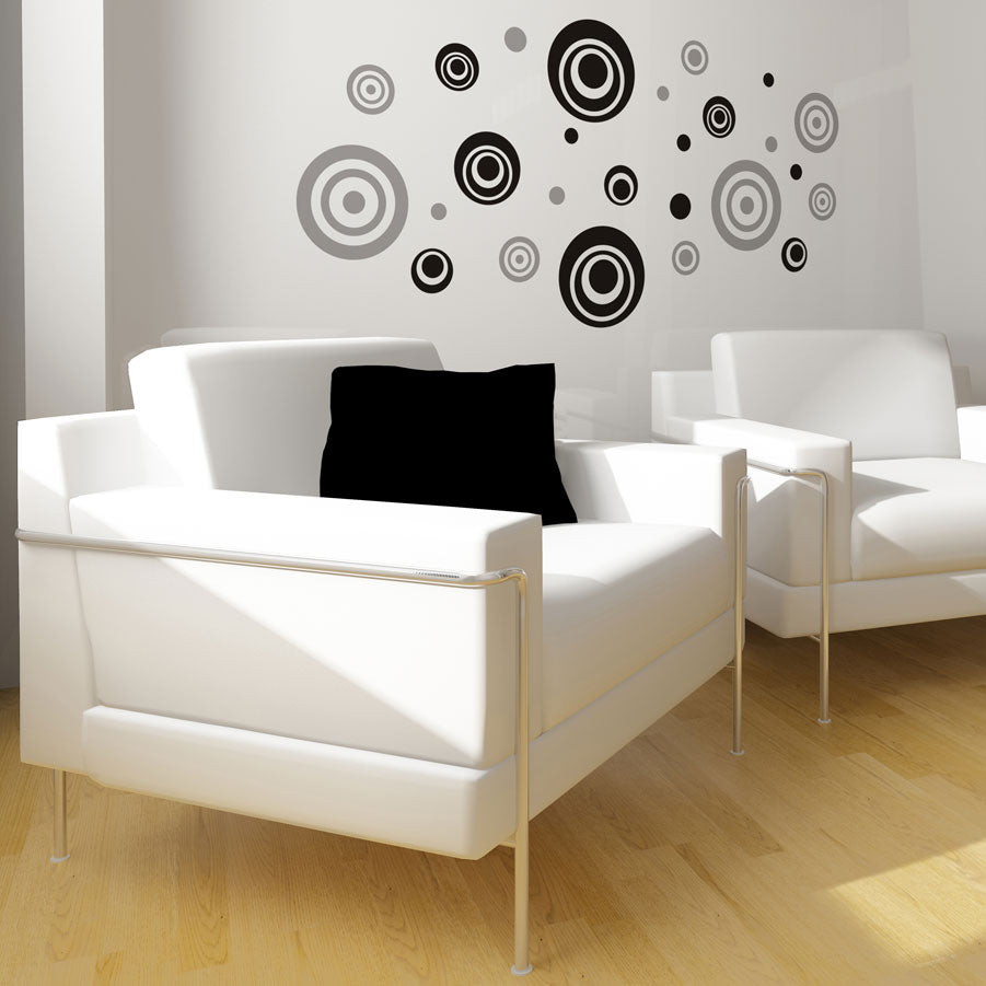 Retro Dots vinyl wall stickers