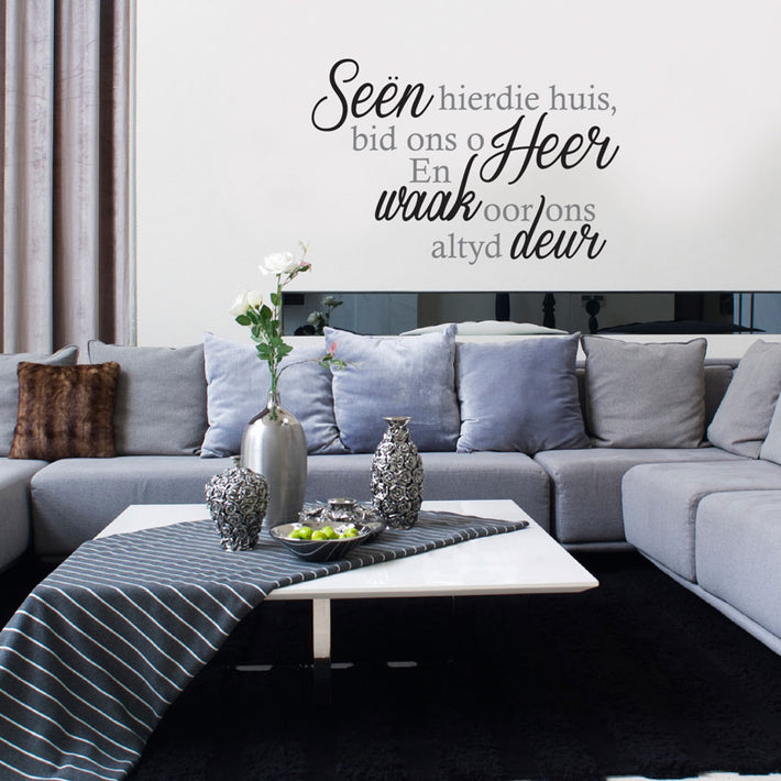 Seën Quote  - Vinyl wall poetry