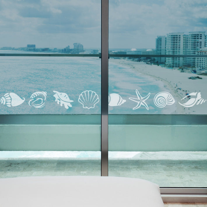 Sea Shells frosted vinyl stickers