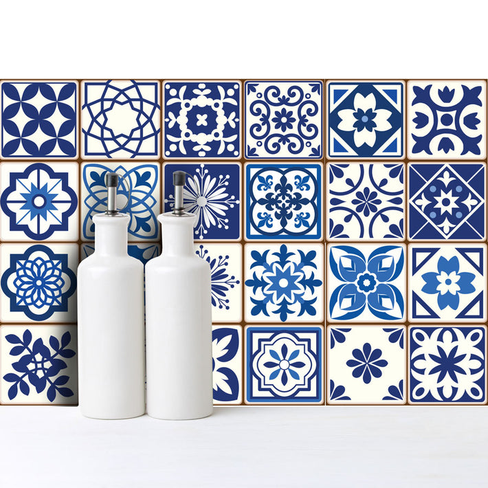 Spanish Blue - vinyl wall tiles