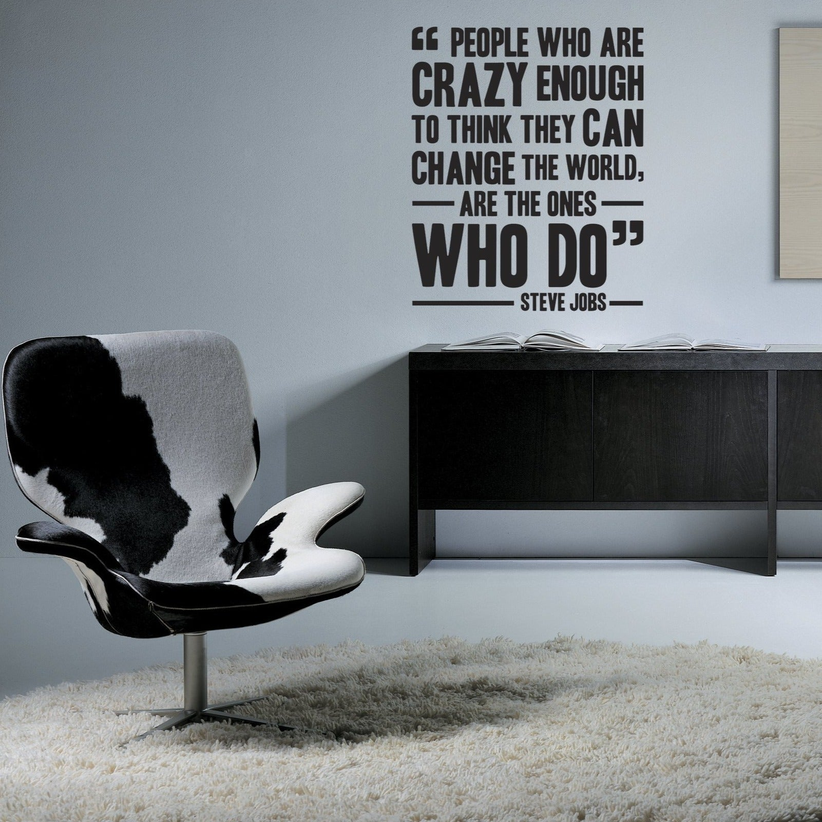 Steve Jobs Quote - vinyl wall stickers