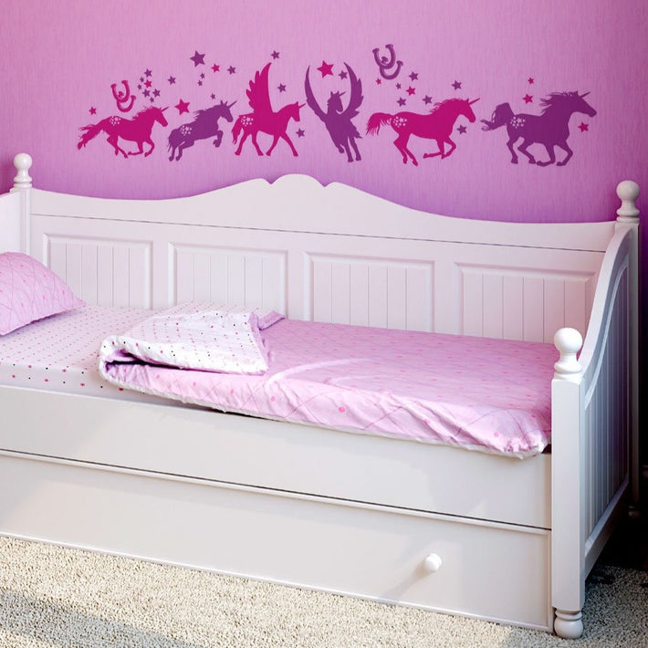 Unicorn vinyl wall stickers
