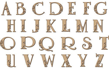 Fancy Wooden alphabet letters