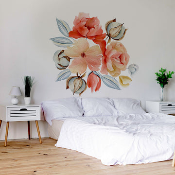 Watercolour flower mural