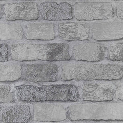 Princess Street Grey Brick Wallpaper