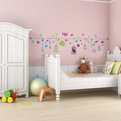 Whimsical Birdcages vinyl wall stickers