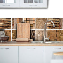 Wood Mix Vinyl wall tiles