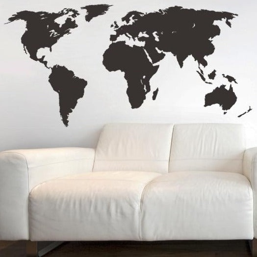World map vinyl wall sticker