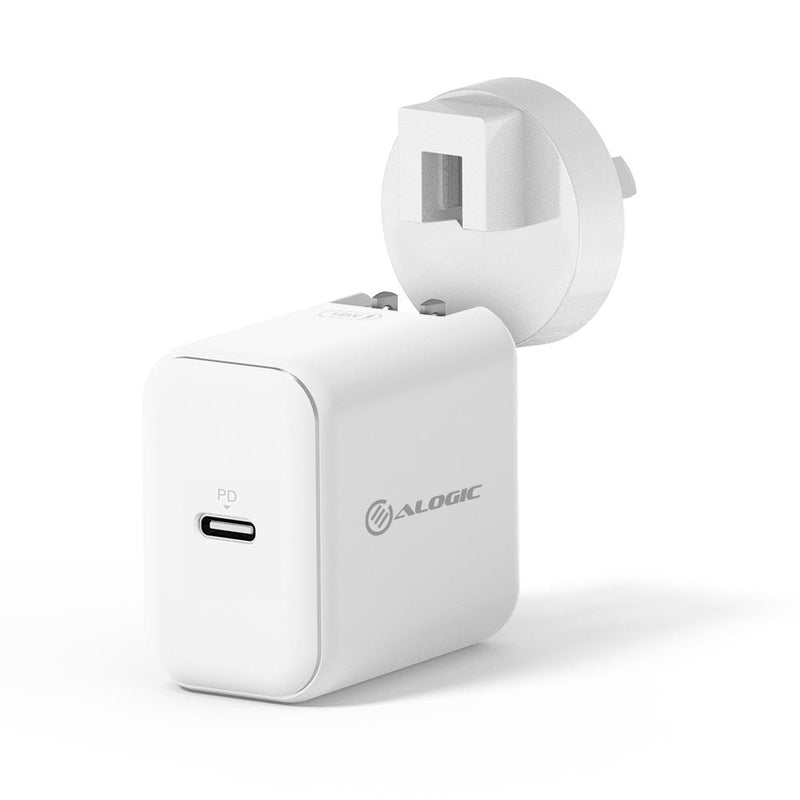 ALOGIC USB-C Wall Charger 18W with Power Delivery - WHITE - MOQ:2