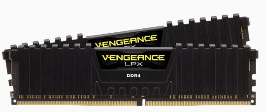 CORSAIR Vengeance LPX DDR4, 3200MHz 16GB 2 x 288 DIMM, Unbuffered, 16-20-20-38, Black Heat spreader, 1.35V, XMP 2.0