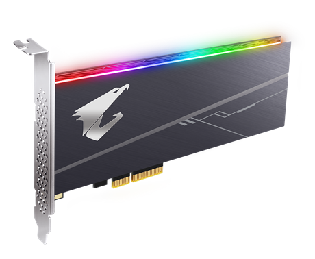 Gigabyte AORUS RGB AIC NVME SSD 1TB - PCIE 3.0 X 4, NVMe 1.3,Sequential Read Speed : up to 3480 MB/s, Sequential Write speed : up to 3080 MB/s, 5yrs