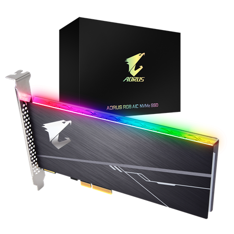 AORUS RGB AIC NVMe SSD 512GB, Waranty Limited 5-years or 800TBW