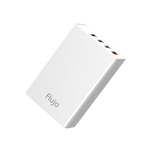 Flujo Multiport USB Smart Charger - Silver