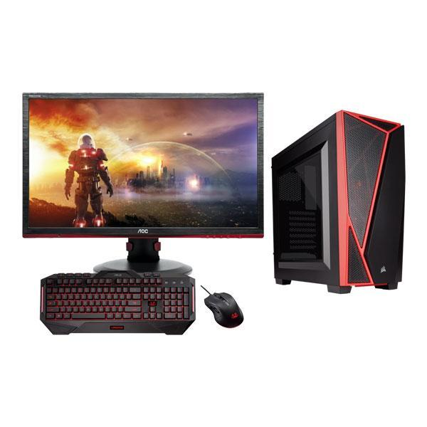 LEC Gamer Desktop - FHD Monitor, Gaming Mouse and Keyboard