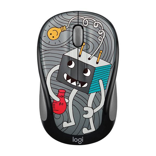 Logitech Doodle Collectoin M238 Wireless Mouse - Lightbulb