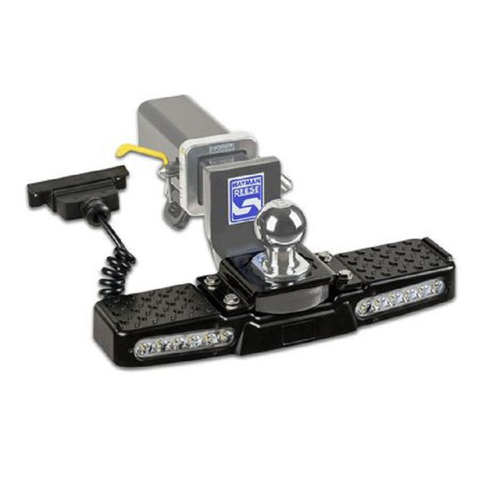 Hayman Reese Hitch Mount Step with LED Light 12V & 7 Pin Flat Plug Non Slip Holds up to 150kg