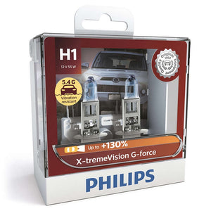 Philips H1 X-tremeVision G-force Headlight Globes 12V 5.4G* Vibration Resistant