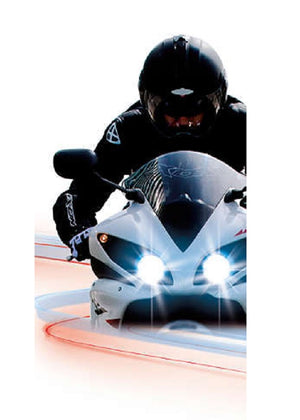 Philips H7 BlueVision Moto Motorcycle Headlight Single Globe 12V 55W 3700k 1500L