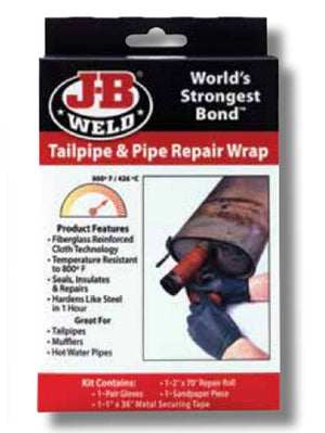 "JB Weld Exhaust Tailpipe Muffler Repair Wrap Fibreglass Reinforced Cloth 2""x70"""