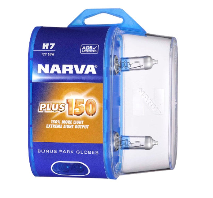 Narva H7 Plus 150% More Extreme Light Output 12V 55W PX26D Legal ADR Approved