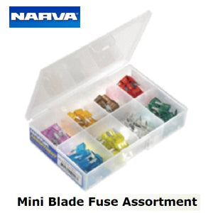 Narva Mini Fuse Blade Assortment Kit Contains 100 Fuses Ranging From 3 to 30 amp