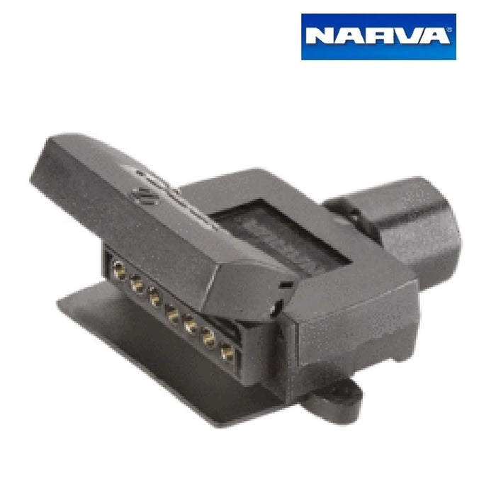 Narva 7 Pin Flat Quickfit Trailer Socket with Reed Switch Normally Open Circuits