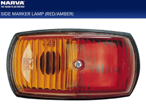 Narva Side Marker Clearance Light Red/Amber Incandescent 4 Pack Caravan Camper