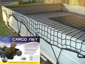 Cargo Trailer Net for Boat Ute Truck 1.5m x 2.2m Bungee Cord 35mm Square Mesh