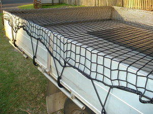 Cargo Net for Trailer Ute Boat 2m x 3.5m Bungee Cord 35mm Square Mesh Safe & Legal