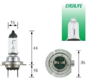 Narva H7 Everlife Halogen Headlight Globes & Parkers Up to 4 Times Longer Life