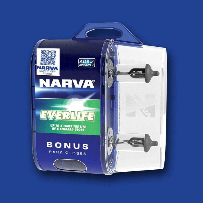 Narva H1 Everlife Halogen Headlight Globes & Parkers Up to 4 Times Longer Life